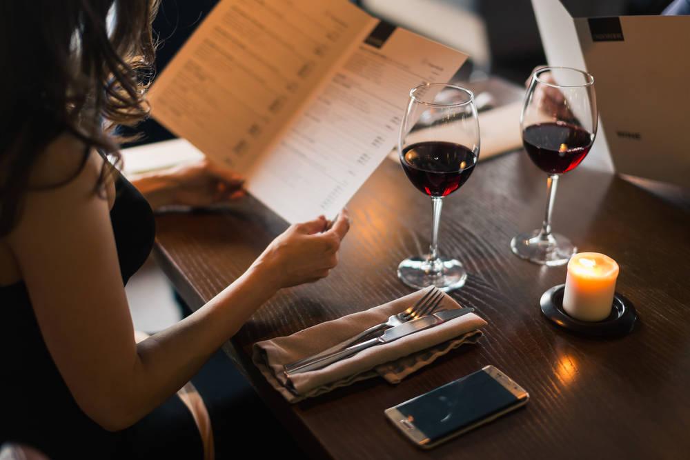 La carta de vinos del restaurante
